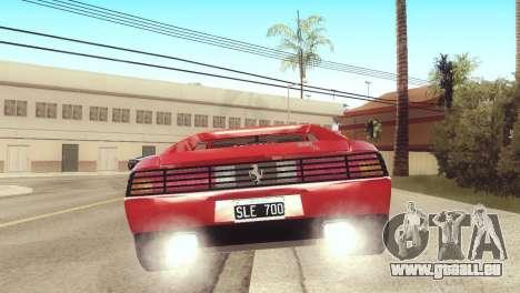 Ferrari 348 TB pour GTA San Andreas laissé vue