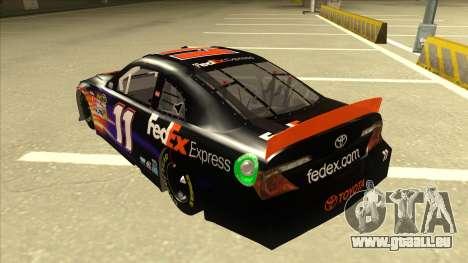 Toyota Camry NASCAR No. 11 FedEx Express für GTA San Andreas Rückansicht