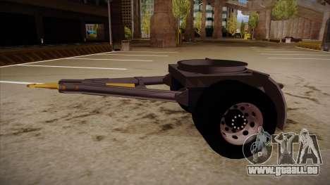 Pièce de jonction d'une remorque de camion de bo pour GTA San Andreas