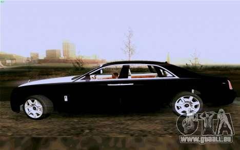 Rolls-Royce Ghost pour GTA San Andreas vue de droite