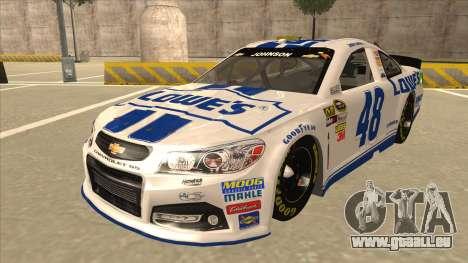 Chevrolet SS NASCAR No. 48 Lowes white pour GTA San Andreas