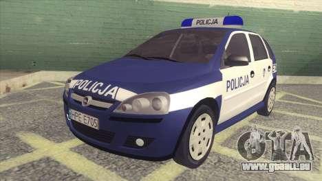 Opel Corsa C Policja für GTA San Andreas