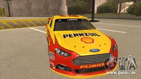 Ford Fusion NASCAR No. 22 Shell Pennzoil pour GTA San Andreas laissé vue