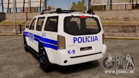Nissan Pathfinder Croatian Police [ELS] pour GTA 4 Vue arrière de la gauche
