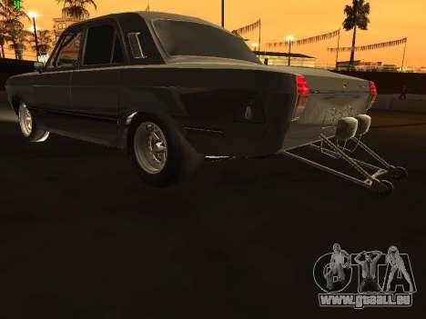 Gaz Drag Edition 24 pour GTA San Andreas sur la vue arrière gauche