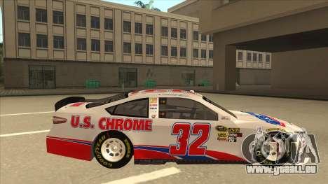 Ford Fusion NASCAR No. 32 U.S. Chrome pour GTA San Andreas sur la vue arrière gauche