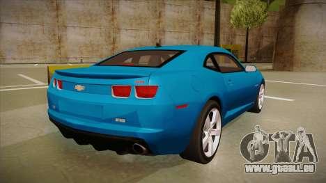 Chevrolet Camaro pour GTA San Andreas vue arrière