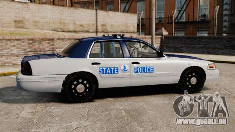 Ford Crown Victoria Virginia State Police [ELS] pour GTA 4 est une gauche