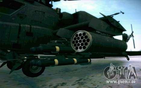 AH-64 Apache für GTA San Andreas Innenansicht