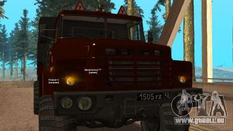 Camion auto-école v. 2.0 pour GTA San Andreas vue intérieure