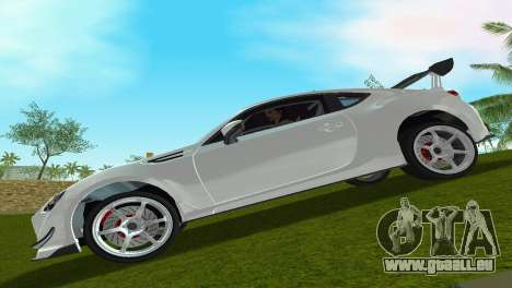 Subaru BRZ Type 4 pour GTA Vice City sur la vue arrière gauche