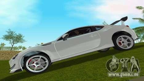 Subaru BRZ Type 4 für GTA Vice City zurück linke Ansicht