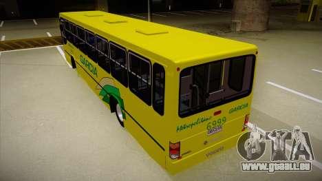 Busscar Urbanus SS Volvo B10 M garcia pour GTA San Andreas vue arrière