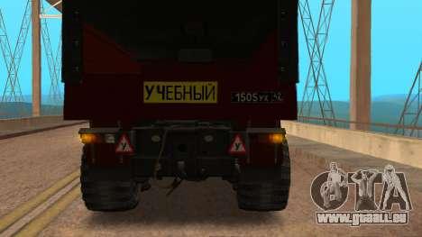 Camion auto-école v. 2.0 pour GTA San Andreas vue de droite