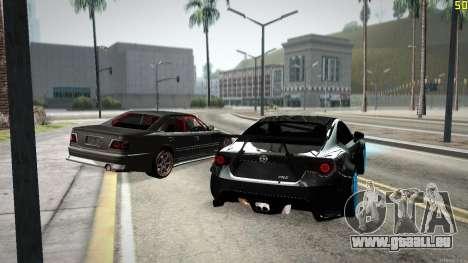 Toyota Chaser Tourer V pour GTA San Andreas vue de dessous
