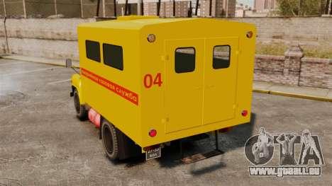 Urgence gaz-52 pour GTA 4 Vue arrière de la gauche