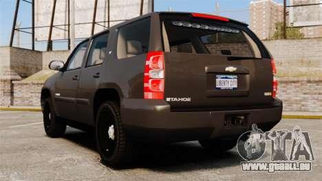 Chevrolet Tahoe Slicktop [ELS] v2 pour GTA 4 Vue arrière de la gauche