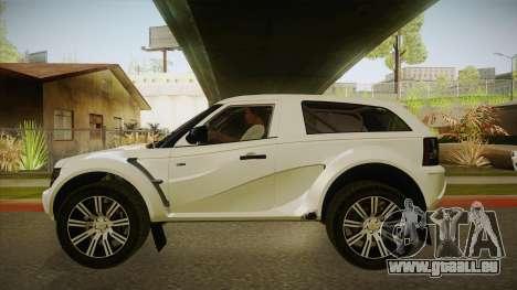 Melon EXR S 2012 FIV + AD pour GTA San Andreas sur la vue arrière gauche