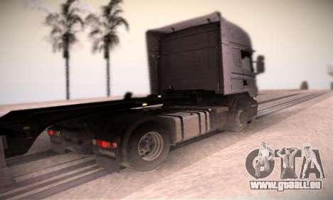 Scania R500 Topline pour GTA San Andreas sur la vue arrière gauche