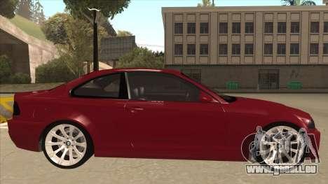 BMW M3 Tuned pour GTA San Andreas sur la vue arrière gauche