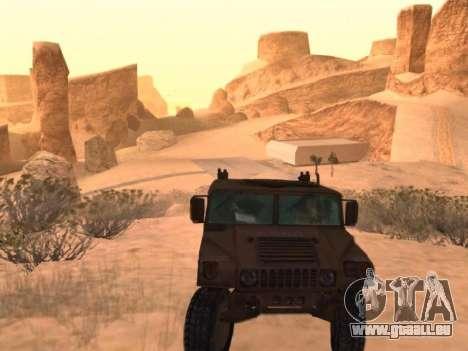 Hummer H1 de la jeu Resident Evil 5 pour GTA San Andreas vue de droite