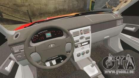 Lada Priora Cuba pour GTA 4 vue de dessus