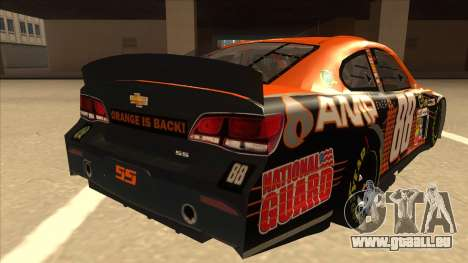 Chevrolet SS NASCAR No. 88 Amp Energy pour GTA San Andreas vue de droite