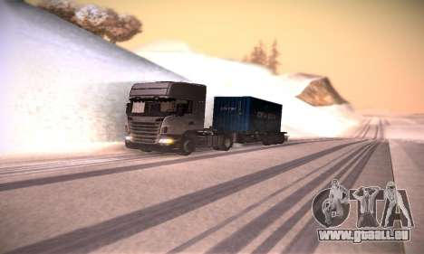Scania R500 Topline pour GTA San Andreas vue intérieure
