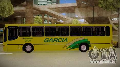 Busscar Urbanus SS Volvo B10 M garcia pour GTA San Andreas sur la vue arrière gauche