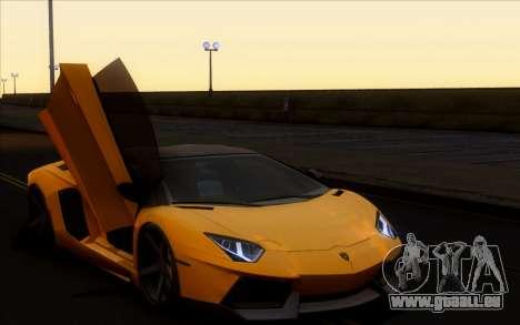 Lamborghini Aventador Vossen V2.0 Final pour GTA San Andreas sur la vue arrière gauche