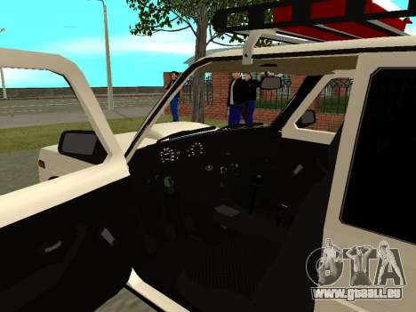 VAZ 21213 Niva für GTA San Andreas Rückansicht