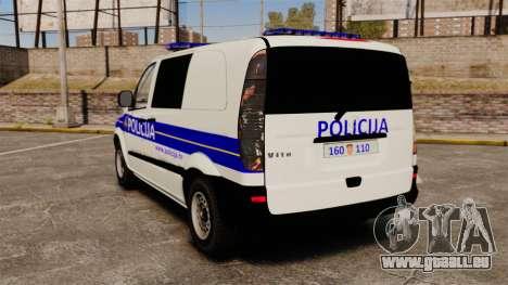 Mercedes-Benz Vito Croatian Police v2.0 [ELS] für GTA 4 hinten links Ansicht