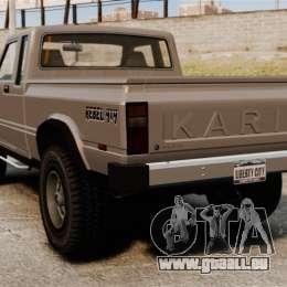 Karin Rebel 4x4 pour GTA 4 Vue arrière de la gauche
