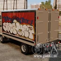 Nouveau graffiti pour Mule pour GTA 4 Vue arrière de la gauche