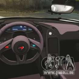 McLaren P1 [EPM] pour GTA 4 est une vue de l'intérieur