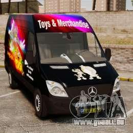 Mercedes-Benz Sprinter Tom and Jerry pour GTA 4