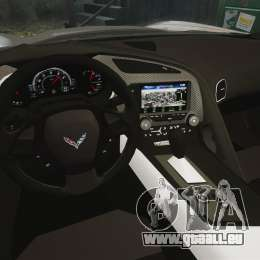 Chevrolet Corvette C7 Stingray 2014 für GTA 4 Innenansicht
