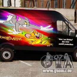 Mercedes-Benz Sprinter Tom and Jerry pour GTA 4 est une gauche