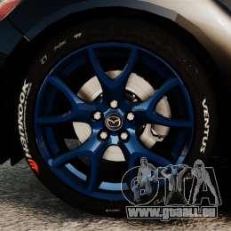 Mazda RX-8 R3 2011 Police für GTA 4 Rückansicht