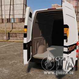 Mercedes-Benz Sprinter Sokol Maric Security für GTA 4 Rückansicht