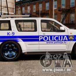 Nissan Pathfinder Croatian Police [ELS] für GTA 4 linke Ansicht