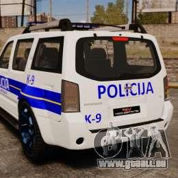 Nissan Pathfinder Croatian Police [ELS] für GTA 4 hinten links Ansicht