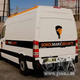 Mercedes-Benz Sprinter Sokol Maric Security für GTA 4 hinten links Ansicht