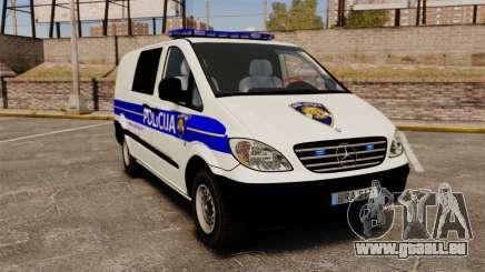 Mercedes-Benz Vito Croatian Police v2.0 [ELS] pour GTA 4
