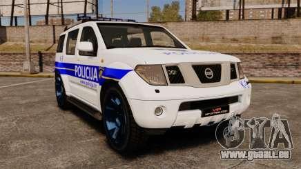 Nissan Pathfinder Croatian Police [ELS] pour GTA 4