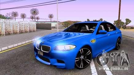 BMW M5 F10 2012 Autovista für GTA San Andreas