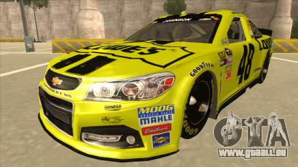 Chevrolet SS NASCAR No. 48 Lowes yellow pour GTA San Andreas