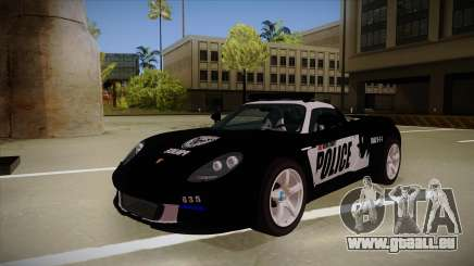 Porsche Carrera GT 2004 Police Black pour GTA San Andreas