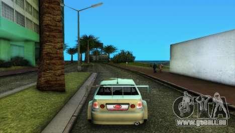 Lexus IS200 pour GTA Vice City vue arrière