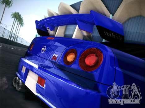 Nissan Skyline GTR pour GTA San Andreas sur la vue arrière gauche